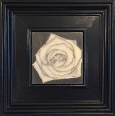 Graphite and Encaustic Rose